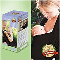 Mother Approved Baby Wrap Carrier and Sling For Newborns and Breastfeeding Mo...
