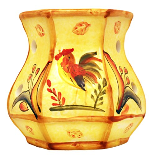 Bamboo Rooster, Electric Tart Burner, 83965 By ACK (Candle Warmer Sunflower)