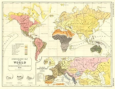 World Ethnographic Distribution Map Of The World Inset Europe