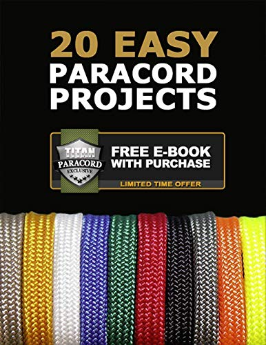 Titan SurvivorCord | Desert TAN | 103 Feet | Patented Military Type III 550 Paracord/Parachute Cord (3/16'' Diameter) with Integrated Fishing Line, Fire-Starter, and Utility Wire. by Titan Paracord (Image #9)
