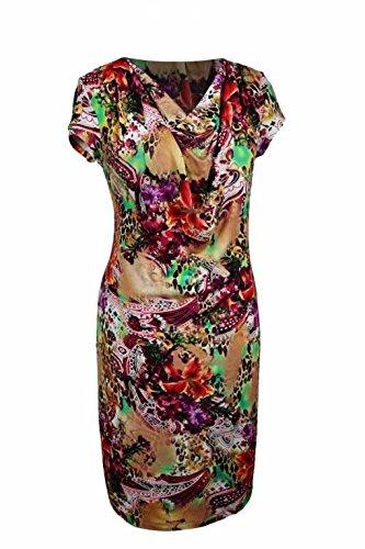 Berry® Wasserfall Sommerkleid mit Kurzarm