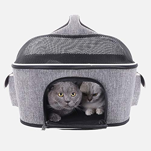 Nosterappou Practical Breathable and Comfortable pet cat Bag, Out of The Portable Portable Dog Out of The Backpack, car cat Litter, with Various Pets