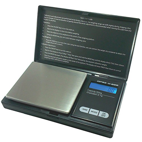 Dipse M-200 Precision Digital Pocket Scales - Weighs up to 200 g in 0.01 g Increments, Stainless steel, Silver, 600g x 0,1g