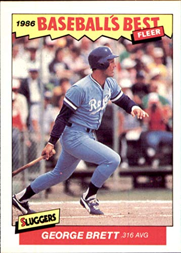 GEORGE BRETT HOF KANSAS CITY ROYALS 1986 Fleer Sluggers Pitchers Baseball's Best #3 Vintage