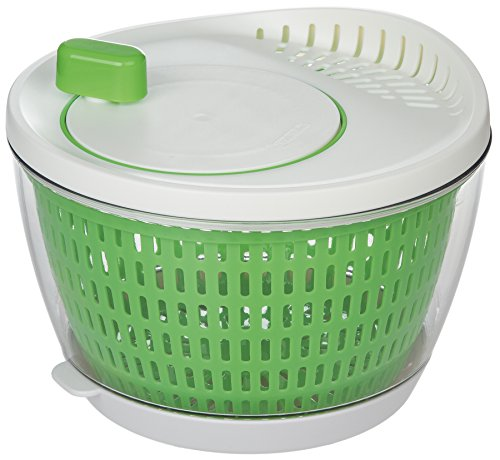 Salad White Spinner (Prepworks by Progressive Flow Through Salad Spinner with Removable Drip-Catch Base - 3.5 Quart)
