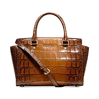 MICHAEL Michael Kors Selma Large Croco Satchel, Luggage