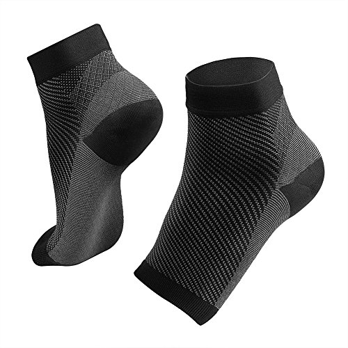Pacetag Plantar Fasciitis Compression Socks with Arch Support (1 Pair) for Relieve Arch Pain, Reduce Foot Swelling & Heel Spurs, Ankle Brace Support, Increases Blood Circulation (L/XL)