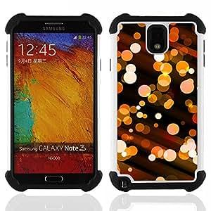 """Pulsar ( Bling bola de discoteca luces City Night Street"""" ) Samsung Galaxy Note 3 III N9000 N9002 N9005 híbrida Heavy Duty Impact pesado deber de protección a los choques caso Carcasa de parachoques"""