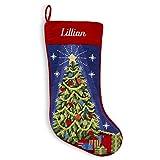 Personalized Needlepoint Christmas Stocking - 8 Designs - Custom Gifts - 17'' (Christmas Tree)