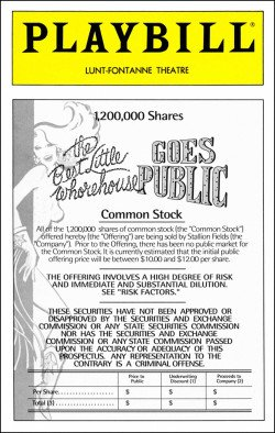 THE BEST LITTLE WHOREHOUSE GOES PUBLIC - PLAYBILL - APRIL 1994 - VOLUME 94 - NO. 4
