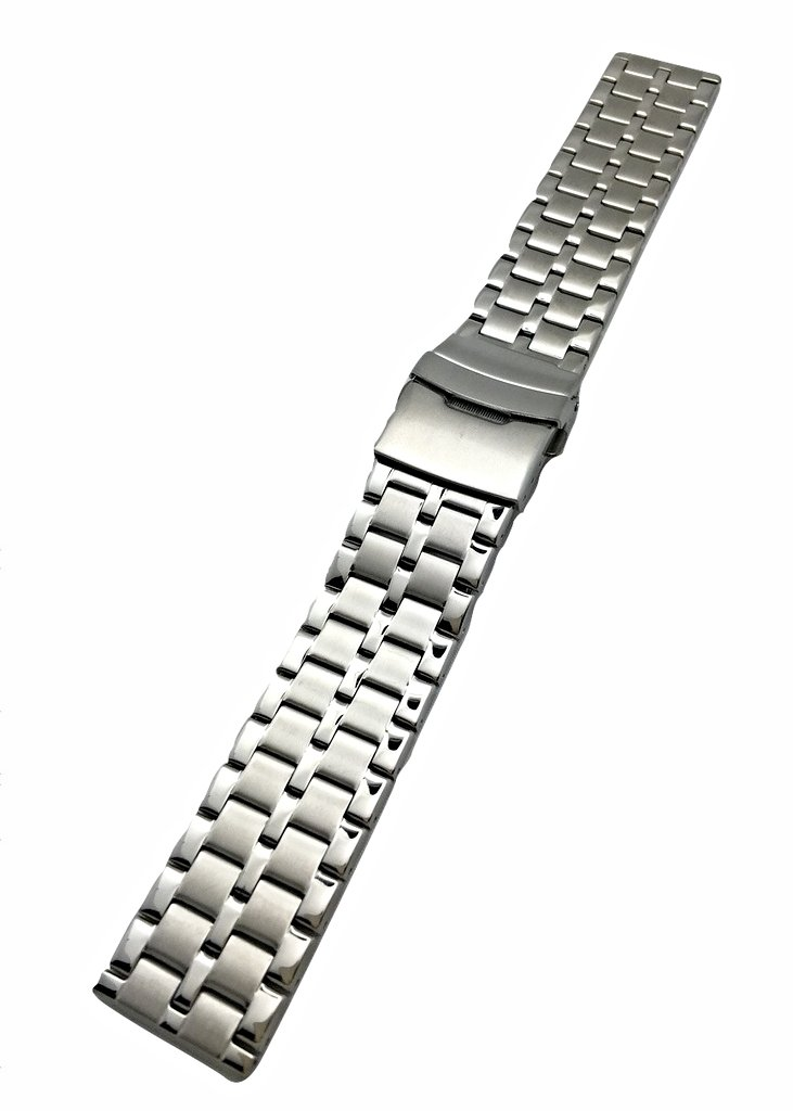 22mm Metal Watch band by NewLife | Men's Women's Silver Stainless Steel Strap Replacement Wrist Band Bracelet with Clasp that brings New Life to Any Watch