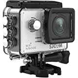 SJCAM SJ5000 WIFI Action Camera 14MP 1080p Ultra HD Waterproof Underwater Camera Large Screen Wide Angle Sports DV Camcorder for Diving Swimming Surfing Biking Wifi Cam- Silver