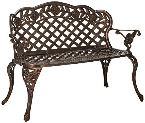 Oakland Living Rose Loveseat, Antique Pewter