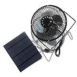 NUZAMAS 3.5W 6V Solar Panel Powered 6 Inch Fan for Camping Caravan Yacht Greenhouse Dog House Chicken House Ventilator