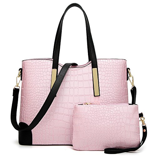 Shoulder Satchel Pink Women Bags Bling and Tote Wallets Purses for YNIQUE Handbags YwdYUO