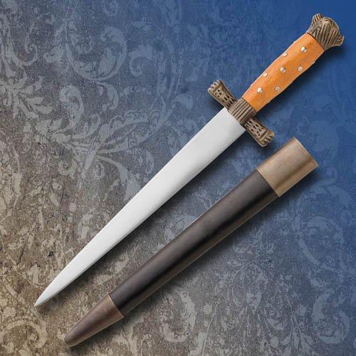 Museum Replicas English Quillion Hunting Dagger w/Sheath