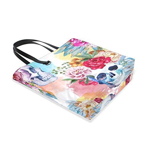 al 001 multicolor tote única talla para Piel mujer de ISAOA Bolso hombro q6pyf7yUH