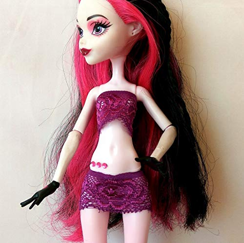 Lingerie set for 12-inch doll. Miniature elastic Monster High and Ever After High bodysuit. Handmade