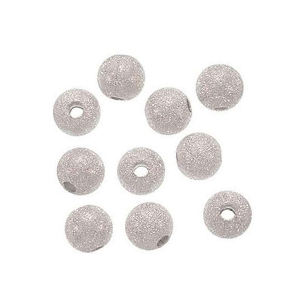 Hilai 100 piezas de cuentas espaciadoras con base plateada de 4 mm para bisuter/ía