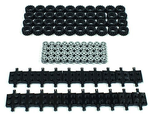 new-lego-tire-wheel-and-square-axles-bulk-lot-100-pieces-total