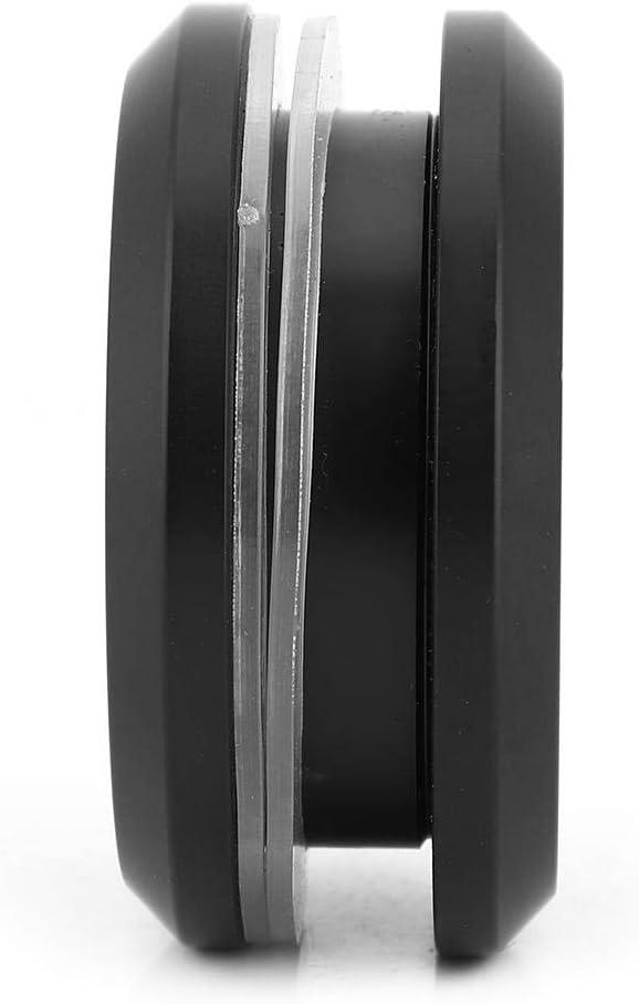 Aluminiumlegierung Glast/ürgriff Runde M/öbel Schrank zieht Knopf schwarz
