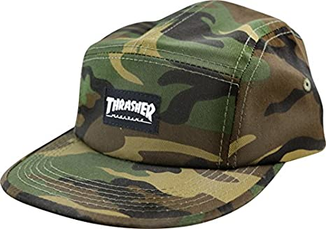 89e12b3138f Image Unavailable. Image not available for. Color  Thrasher Magazine Mag  Logo Camo 5 Panel Hat ...