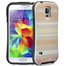 GreatShield® Samsung Galaxy S5 [ARCH Neo Stripe] Rubberized Unibody Hybrid Case with Solid Designer Backplate Cover for Samsung Galaxy S5 SV 2014 - (Orange)