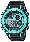 Armitron Sport Men's 40/8284TEL Teal Accented Digital Chronograph Aqua/Black Resin Strap Watch