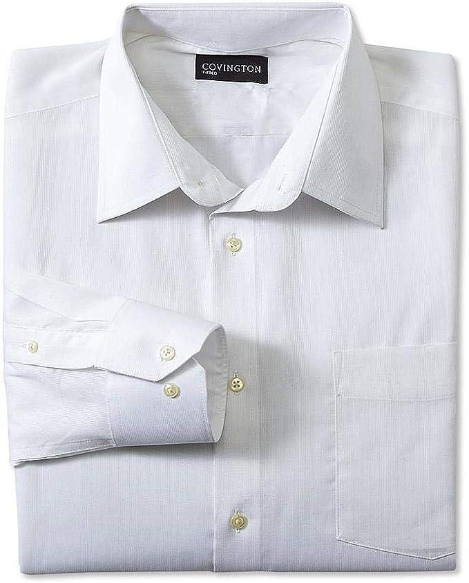 Covington Mens Poplin Classic Fit Long Sleeve Dress Shirt Size Small 14-14.5 32//33 Blue