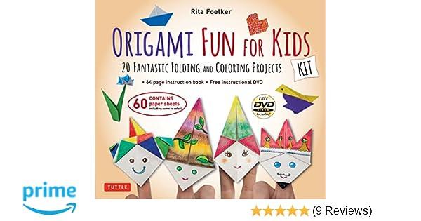 Amazon Origami Fun For Kids Kit 20 Fantastic Folding And