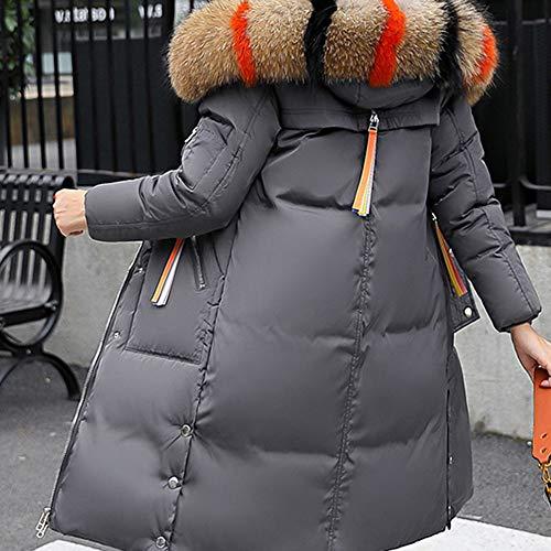 Sintética Gruesos Invierno Abrigo Piel Chaqueta Las Con Capucha De Tops Mujeres Delgado Gris Cálido Sombrero Sungren Larga WTBnqUYTE