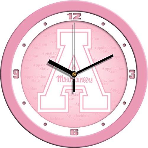 SunTime NCAA Appalachian State Mountaineers Wall Clock - Pink