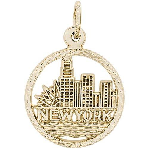 STERLING SILVER NEW YORK SKYLINE CHARM OR