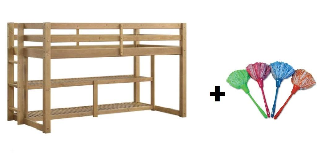 Better Homes and Gardens Loft Storage Bed with Spacious Storage Shelves Free Mocha Twin Multiple Finishes