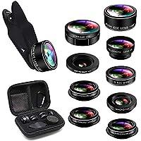 Cell Phone Camera Lens, 9 in 1 Camera Lens Kit Macro Lens...