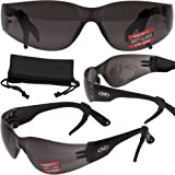 Rider Advanced System Safety Glasses - FREE Rubber Ear Locks and Microfiber Pouch