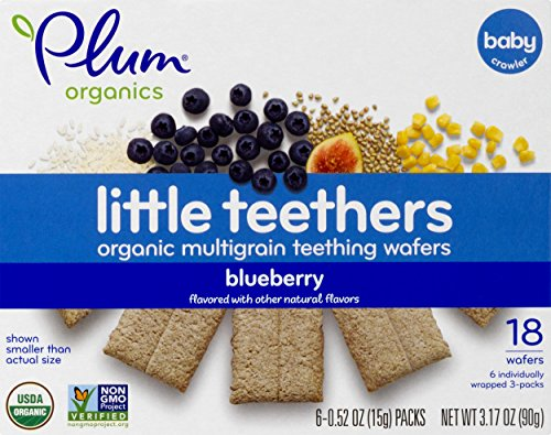 Plum Organics Little Teethers, Blueberry, 0.52 Ounce, 6 Count by Plum Organics