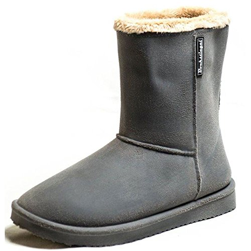 Bock Smeltkroes Dames Rubberen Laarzen Vanessa Warme Voering In Grijs Boot Redesign
