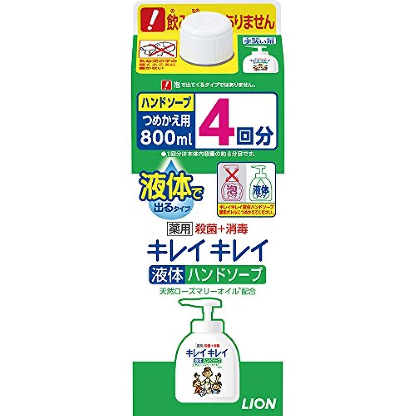 歪めるずんぐりしたエスカレート(医薬部外品)【大容量】キレイキレイ 薬用 液体ハンドソープ 詰め替え 特大 800ml