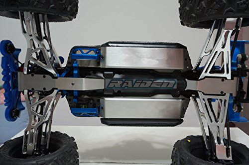 Middle Battery Chassis Stainless Steel Front Rear Fully Protector Skid Plate Armor 3pc for TRAXXASS 1//10 E-REVO Summit REVO 3.3