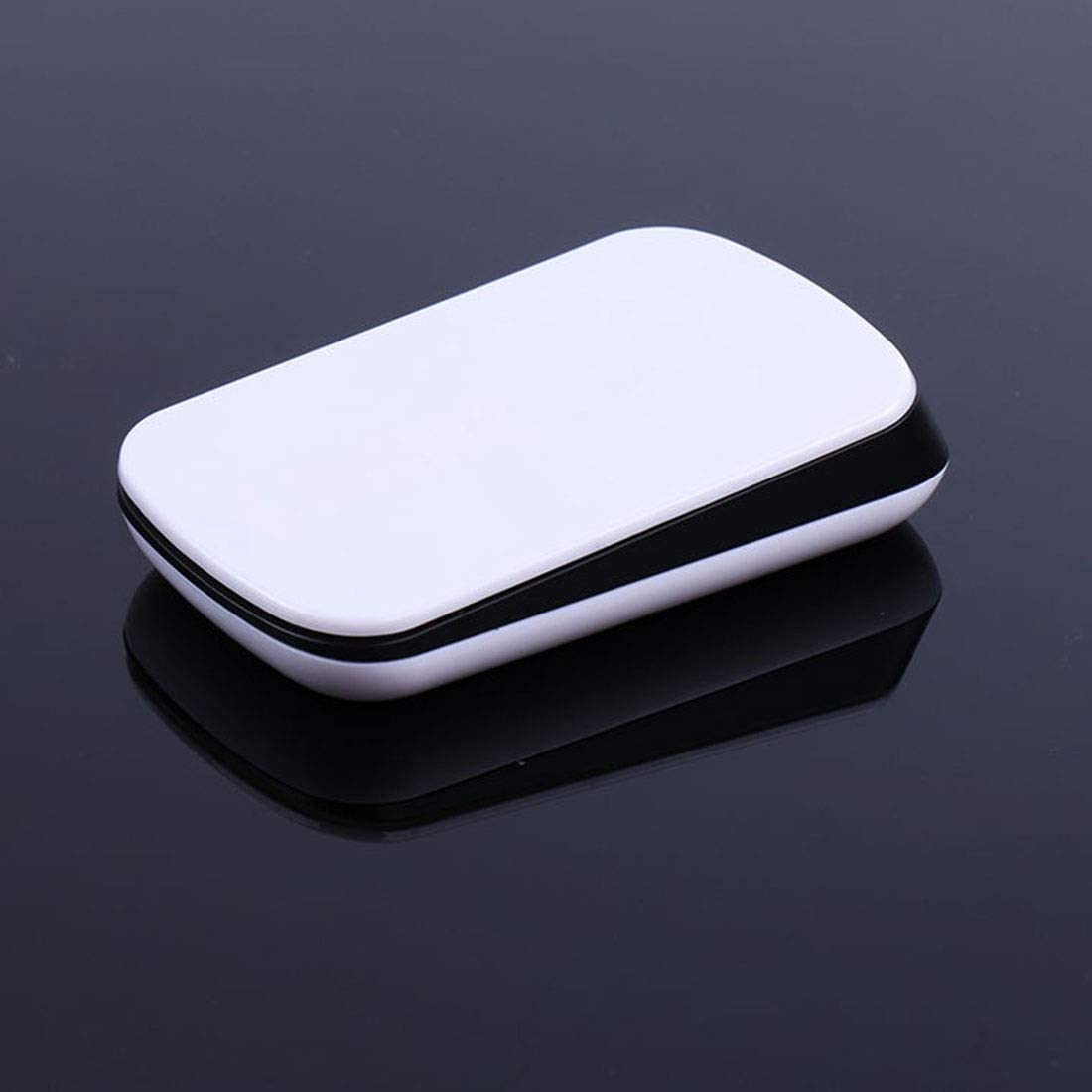 JUNXI LYX TM-825 2.4GHz 1200 DPI Wireless Touch Scroll Optical Mouse for Mac Desktop Laptop Easy to Install White