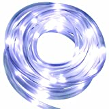 Solar Rope Lights Outdoor Decorations Garden Decorative Light 100 Pure White LED Ornaments Deal of The Day Prime Today Sogrand Landscape Lighting Waterproof for Deck Party Yard Tree