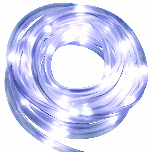 100 White Solar Led String Lights - 9