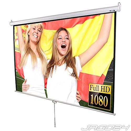 Jago Beamer Leinwand Heimkino 203x203cm (Diagonale ca. 289cm / 113 Zoll) HDTV tauglich