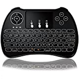 Tripsky P9 2.4GHz Mini Wireless Keyboard without Backlit, Handheld Remote with Touchpad Mouse for for Android TV Box, Windows PC, HTPC, IPTV, Raspberry Pi, XBOX 360, PS3, PS4(Black)
