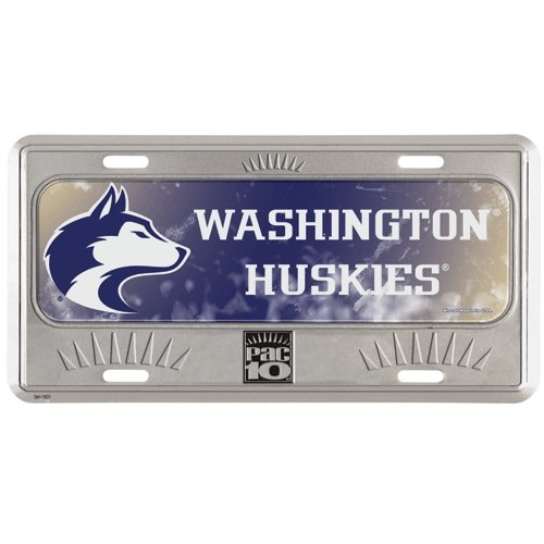 Washington Huskies Official NCAA 12 inch x 6 inch Metal