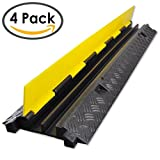 EZ Runner 2 Channel Cable Protector - Length: 39'' - Black Base/Yellow Lid (Pack of 4)