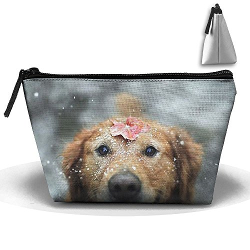 Rose Dogs Makeup Bag Storage Portable Travel Wash Tote Zipper Wallet Handbag Carry Case]()
