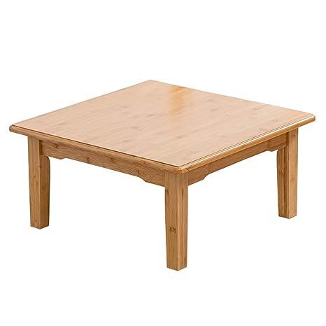 mesa plegable LITING Mesa de Madera Maciza Mesa Cuadrada ...