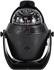 Marine Compass LED Light Adjustable Illuminated Navigation Compass Electronic High Precision for Marine Boat C